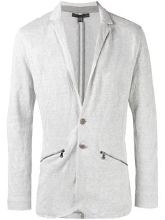 zip detail knitted blazer John Varvatos