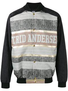 printed panel bomber jacket Astrid Andersen