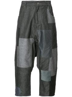 укороченные лоскутные брюки Mostly Heard Rarely Seen