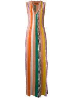 платье макси в полоску Missoni