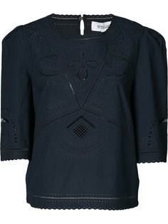 укороченная блузка с открытой вышивкой Derek Lam 10 Crosby