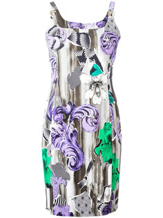 printed shoulder clasp dress Versace Collection