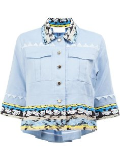 embroidered trim cropped shirt Peter Pilotto