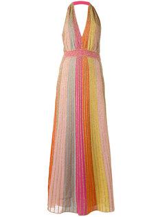 полосатое платье с отделкой металлик M Missoni