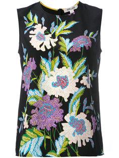 блузка без рукавов с цветочным принтом Diane Von Furstenberg
