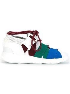 кроссовки с панельным дизайном Christopher Kane