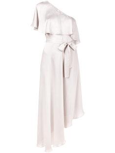 асимметричное платье на одно плечо Zimmermann