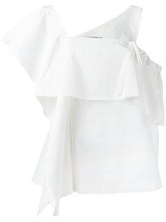 блузка с оборкой и асимметричными рукавами Dorothee Schumacher