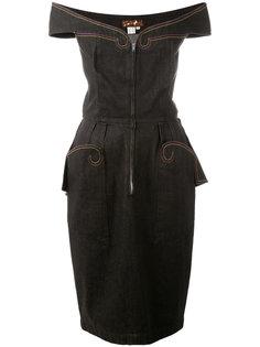 off-the-shoulder dress Thierry Mugler Vintage