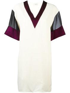 платье-футболка с сетчатыми рукавами  Lanvin