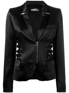 zip & strap detail blazer Jeremy Scott