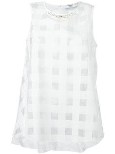 полупрозрачная блузка с квадратами Blugirl