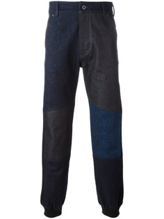 брюки с присборенными щиколотками Diesel Black Gold