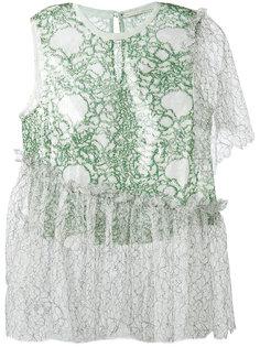 асимметричная кружевная блузка  Marco De Vincenzo