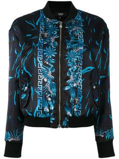 куртка-бомбер с цветочным принтом  Versus