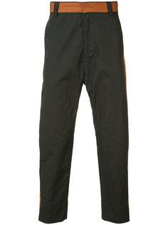 брюки с контрастными полосками Robert Geller