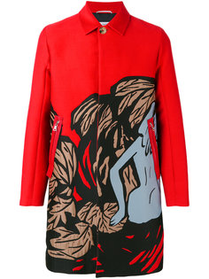 жаккардовое пальто с карманами на молнии Oamc