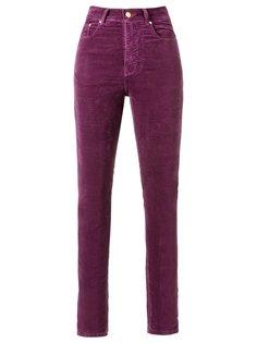 velvet high waist skinny trousers Amapô
