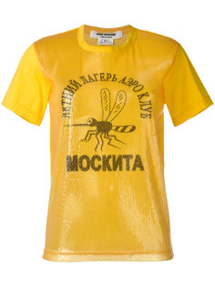 футболка с панелью из пайеток Junya Watanabe Comme Des Garçons