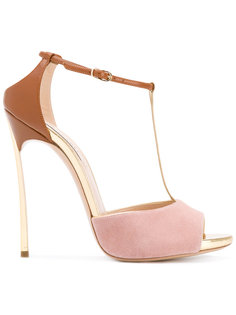 contrast panel sandals Casadei