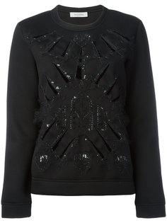 свитер декорированный пайетками Valentino