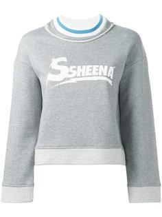 logo print sweatshirt  Ssheena