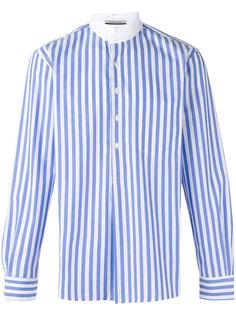 рубашка в полоску с высоким воротом Andrea Pompilio