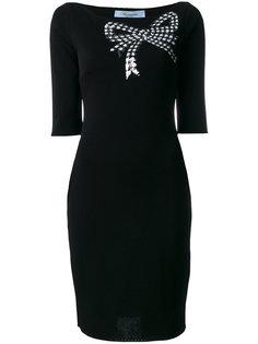 платье с бантом из пайеток Blumarine