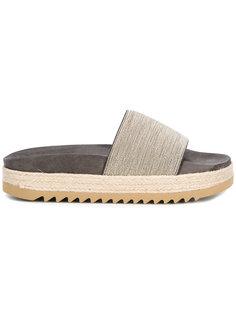 сандалии на ребристой подошве Brunello Cucinelli