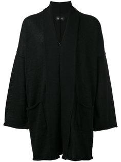 свободное пальто без застежки  Yohji Yamamoto