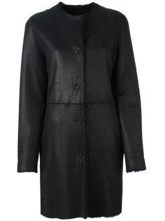 single breasted shearling coat  Liska