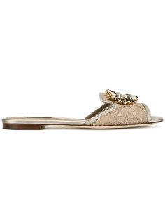 босоножки с камнями Dolce & Gabbana