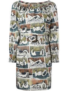 платье шифт с абстрактным принтом Burberry