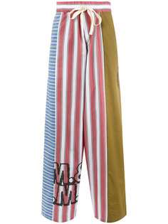 брюки с контрастными панелями Stella McCartney