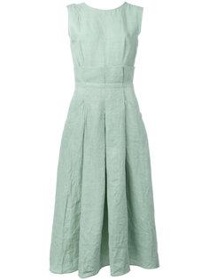 расклешенное платье со складками Ermanno Scervino