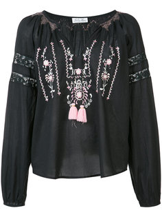 embroidered V neck top  Love Shack Fancy