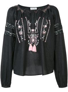 embroidered V neck top  Love Shack Fancy