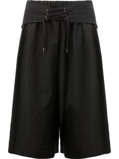 шорты со шнуровкой на поясе Yang Li