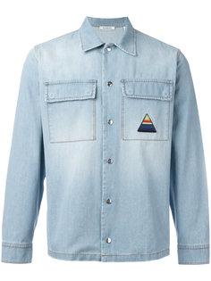 джинсовая рубашка с принтом пальмы Iceberg