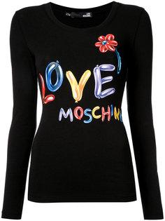 футболка с логотипом Love Moschino