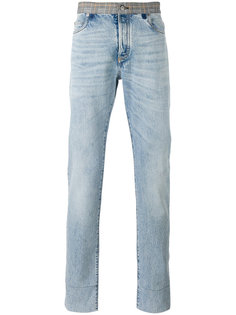 джинсы с контрастным поясом Maison Margiela