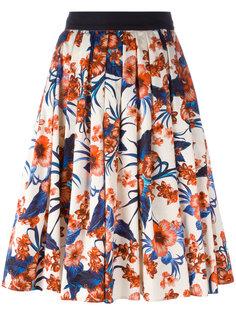 расклешенная юбка с цветочным принтом Fausto Puglisi