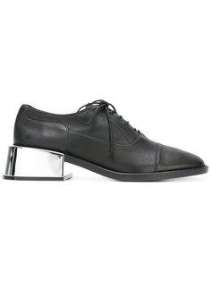 туфли Оксфорды на контрастном каблуке Mm6 Maison Margiela