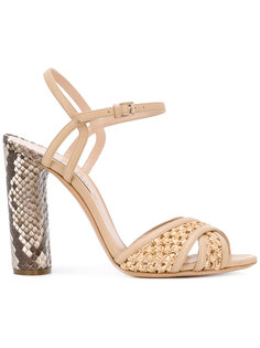 snake print heeled sandals  Casadei