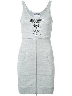 logo print hoodie dress Moschino
