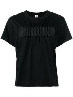 футболка с присборенной отделкой Comme Des Garçons Noir Kei Ninomiya