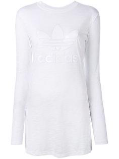 топ с принтом логотипа Adidas
