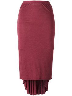 юбка миди с неравномерным подолом Rick Owens Lilies