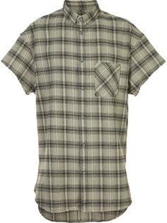 клетчатая рубашка с короткими рукавами  Zanerobe
