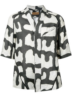 printed collarless shirt Abasi Rosborough